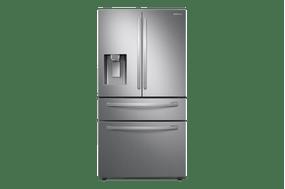 Geladeira Samsung RF22R Inverter Frost Free Smart French Door 3 Portas com Dispenser de Água e Food Showcase 501L Inox